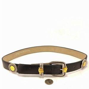 Leatherock Inc Premium Leather Medallio Belt Sz 30